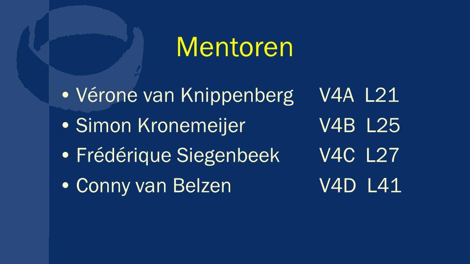 Mentoren Vérone van Knippenberg V4A L21 Simon Kronemeijer V4B L25
