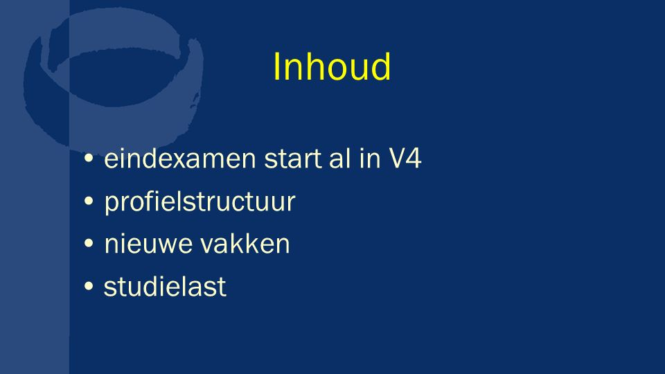Inhoud eindexamen start al in V4 profielstructuur nieuwe vakken
