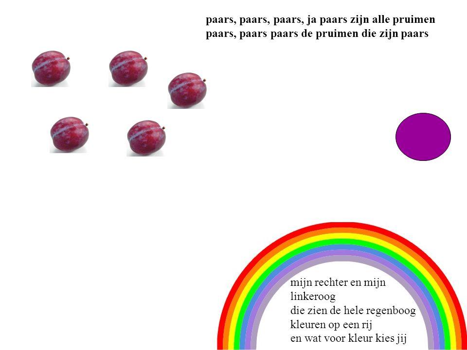 5 paars, paars, paars, ja paars zijn alle pruimen