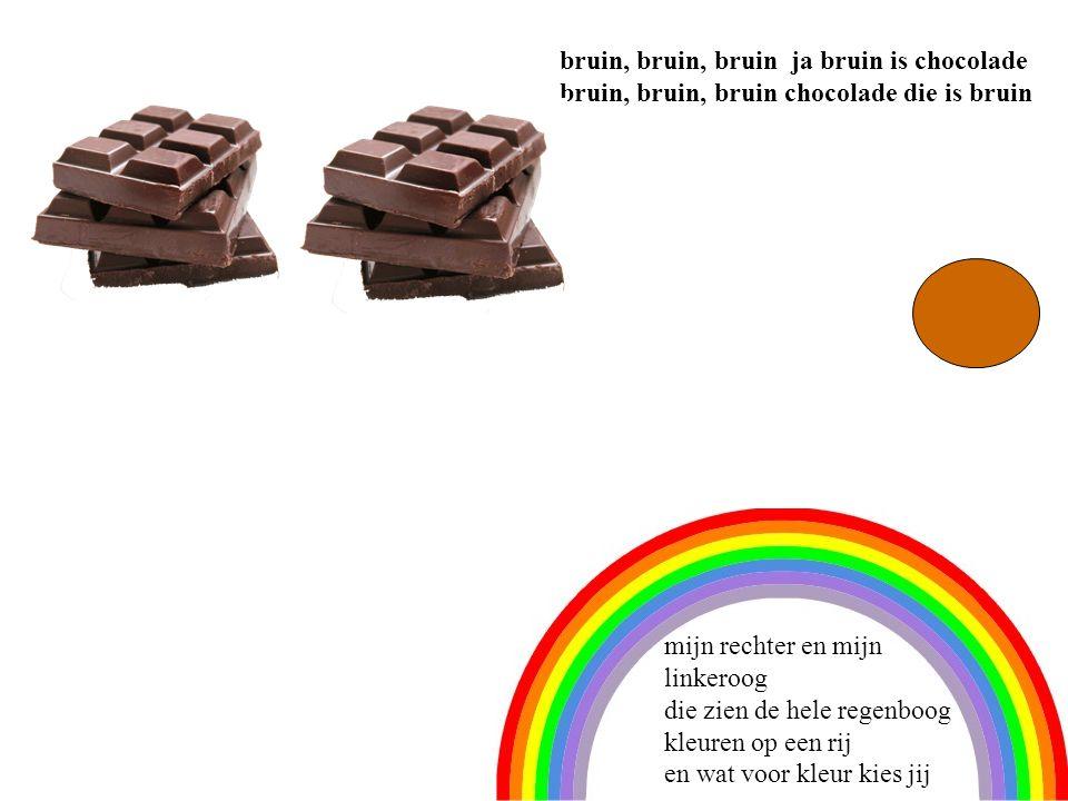 6 bruin, bruin, bruin ja bruin is chocolade