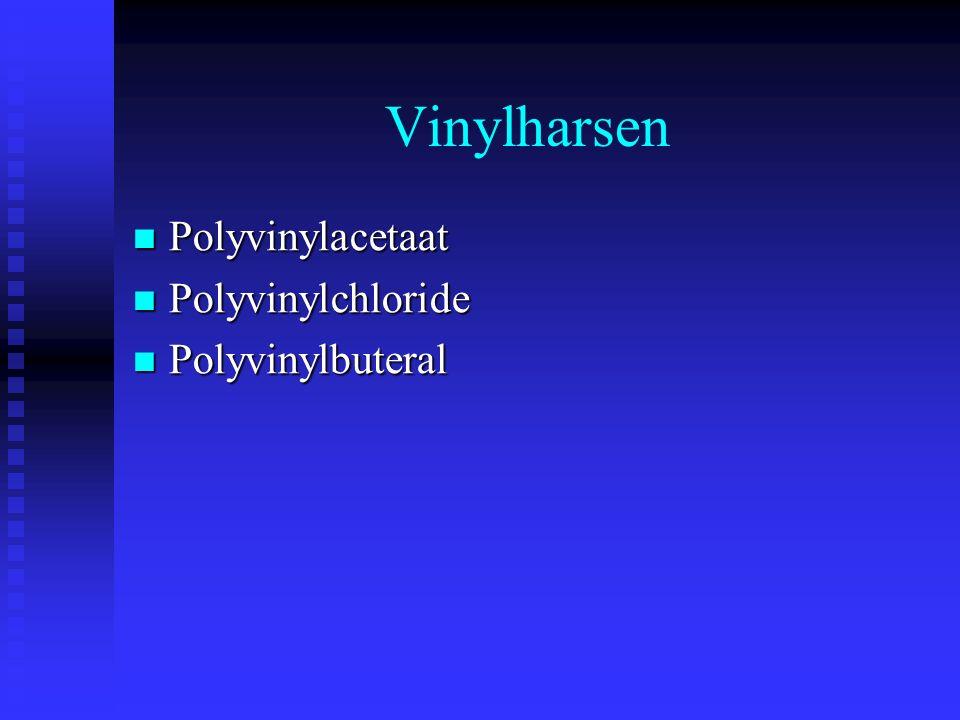 Vinylharsen Polyvinylacetaat Polyvinylchloride Polyvinylbuteral