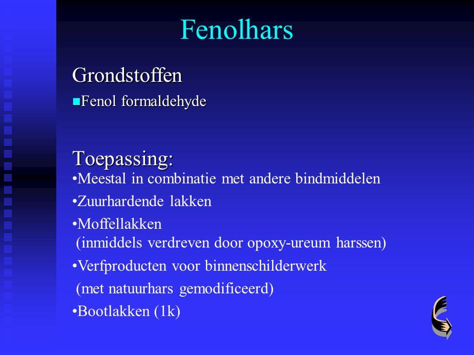 Grondstoffen Fenol formaldehyde Toepassing: