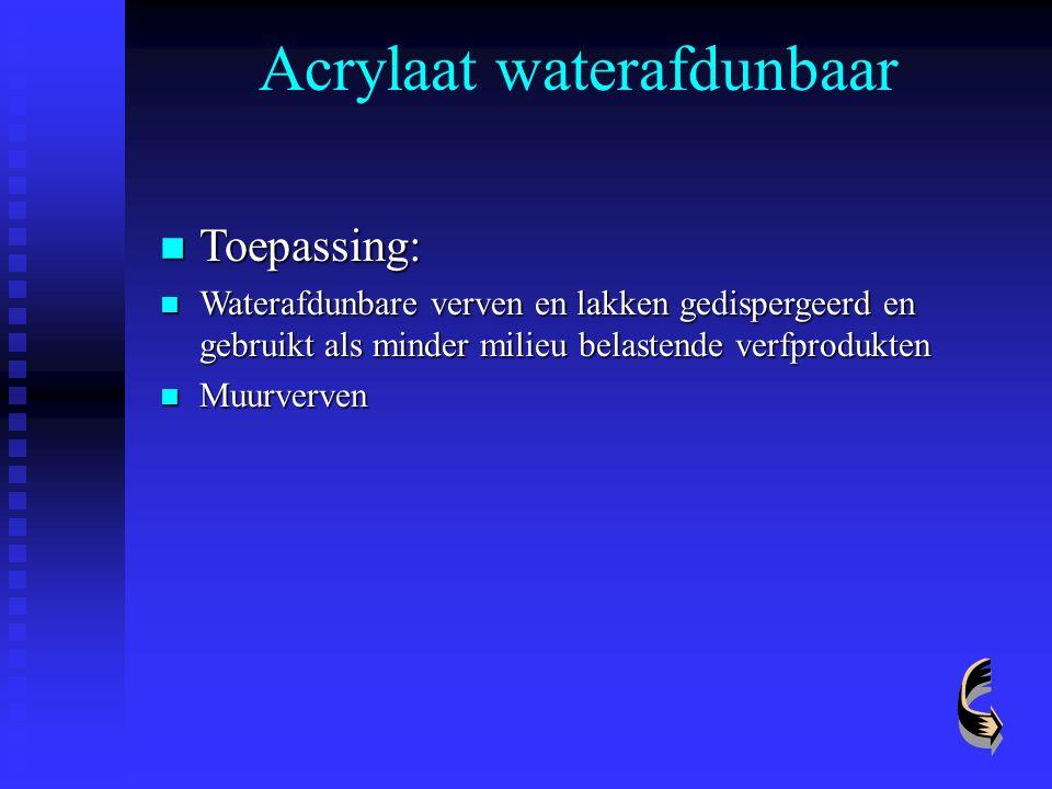 Acrylaat waterafdunbaar