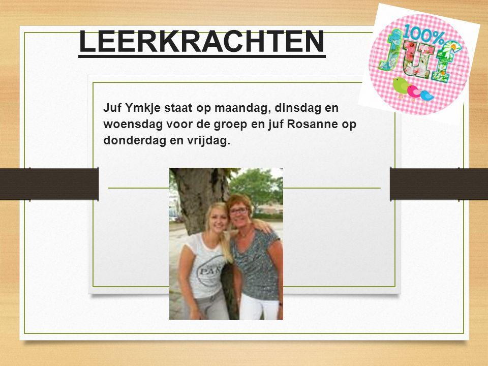 LEERKRACHTEN Juf Ymkje staat op maandag, dinsdag en woensdag voor de groep en juf Rosanne op donderdag en vrijdag.