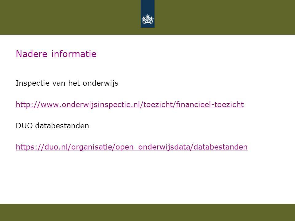 Nadere informatie Inspectie van het onderwijs