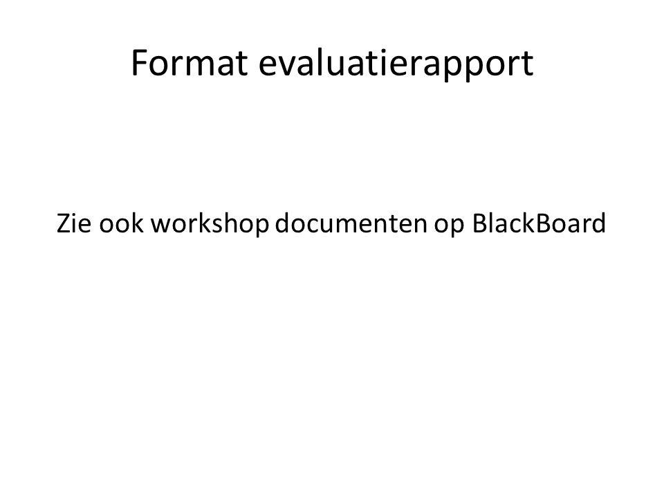 Format evaluatierapport