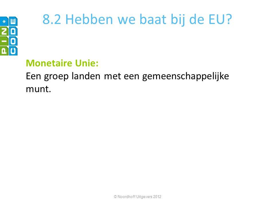 8.2 Hebben we baat bij de EU Monetaire Unie: