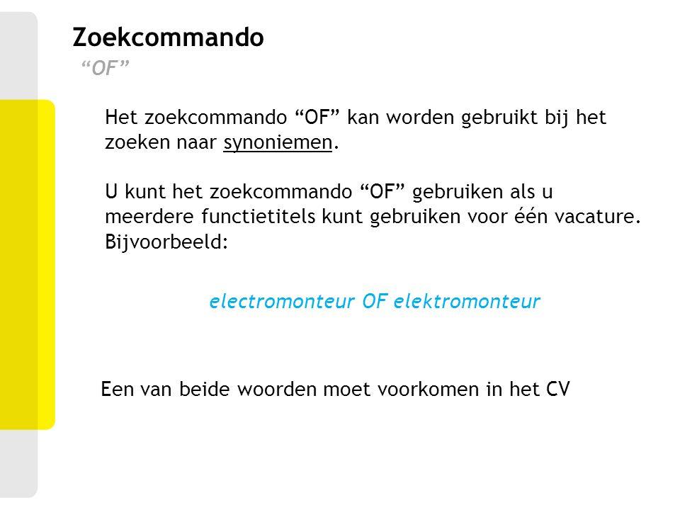 Zoekcommando OF