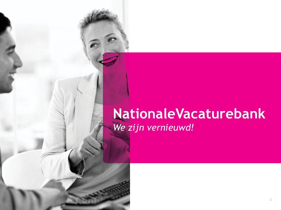 NationaleVacaturebank We zijn vernieuwd!