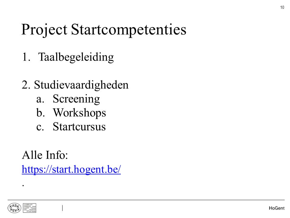 Project Startcompetenties