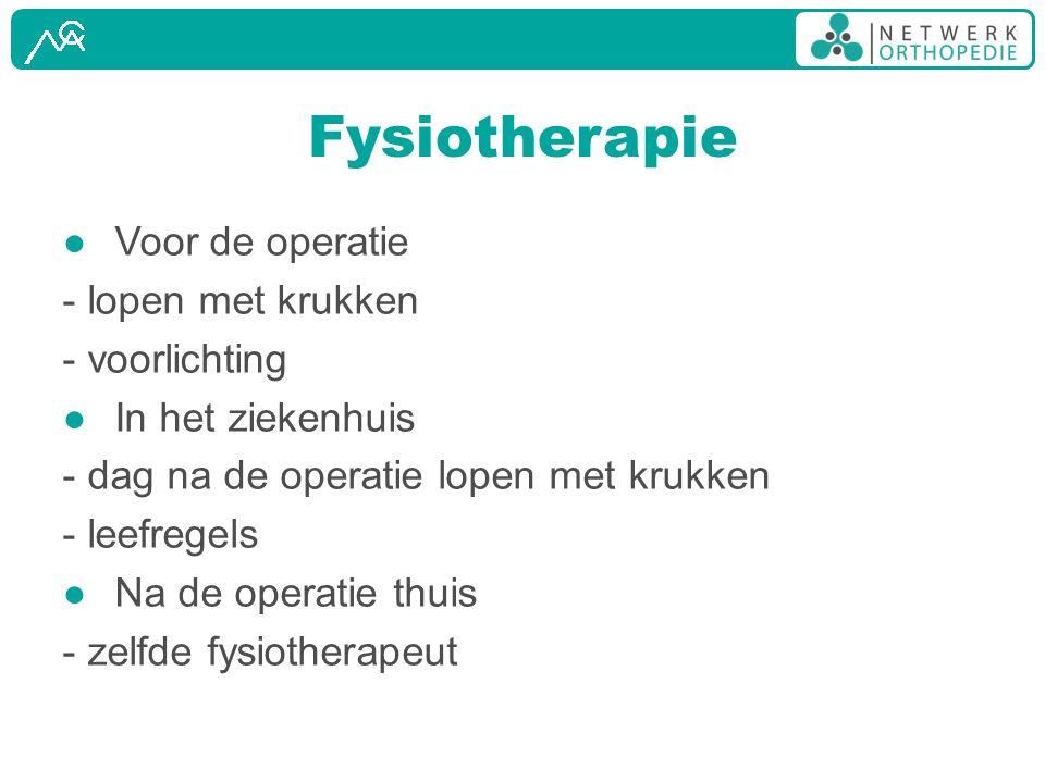 Fysiotherapie Voor de operatie - lopen met krukken - voorlichting