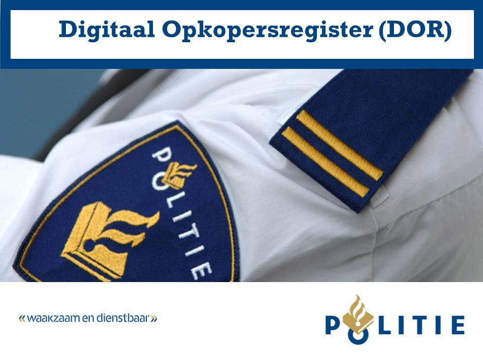 Digitaal Opkopersregister (DOR)