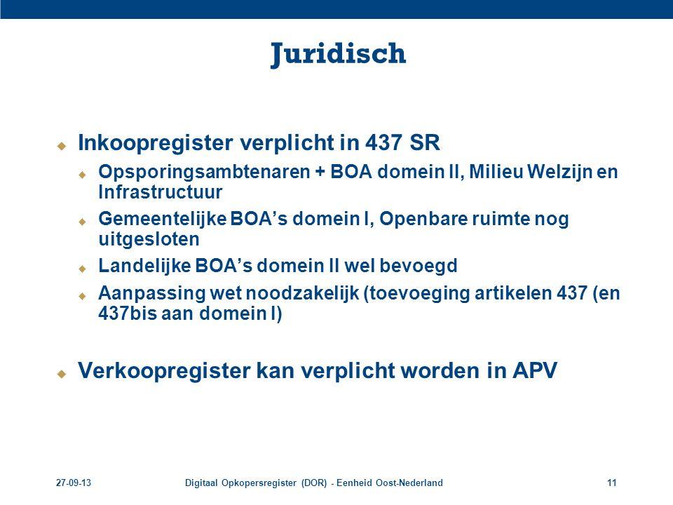 Juridisch Inkoopregister verplicht in 437 SR
