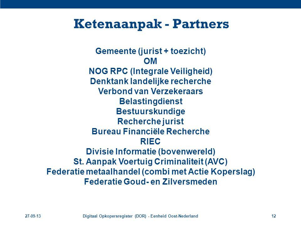 Ketenaanpak - Partners