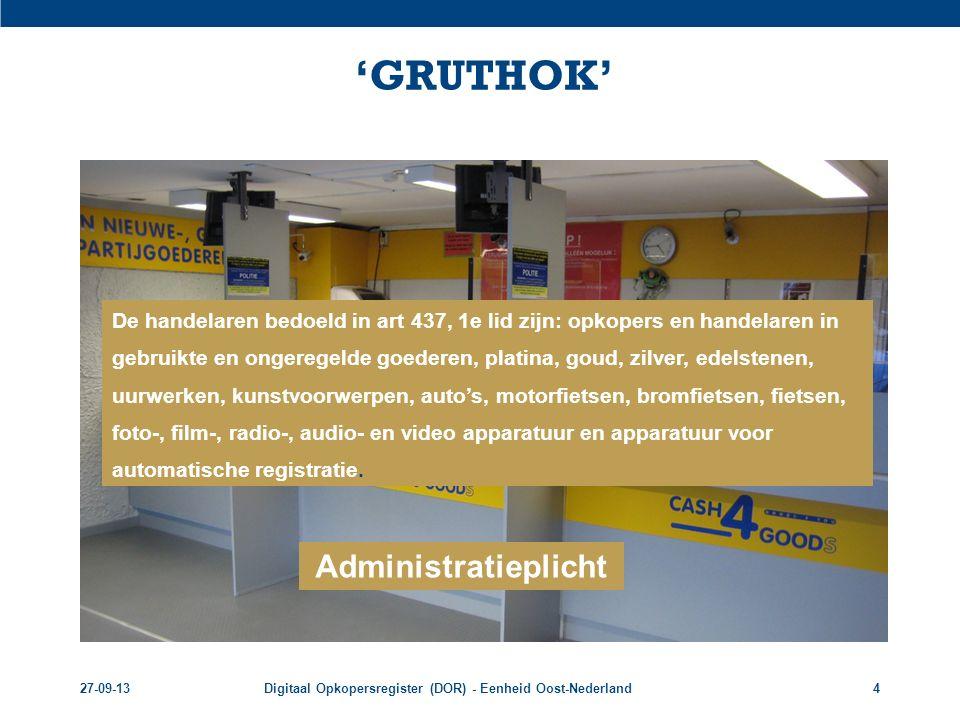 'GRUTHOK' Administratieplicht