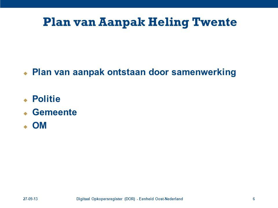 Plan van Aanpak Heling Twente