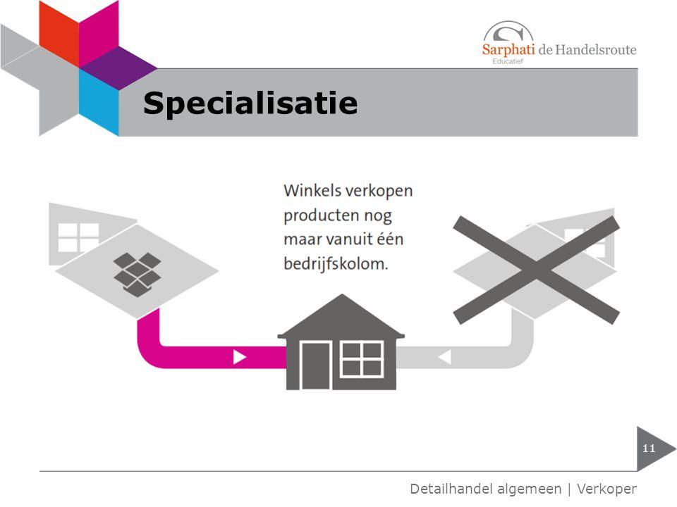 Specialisatie Detailhandel algemeen | Verkoper