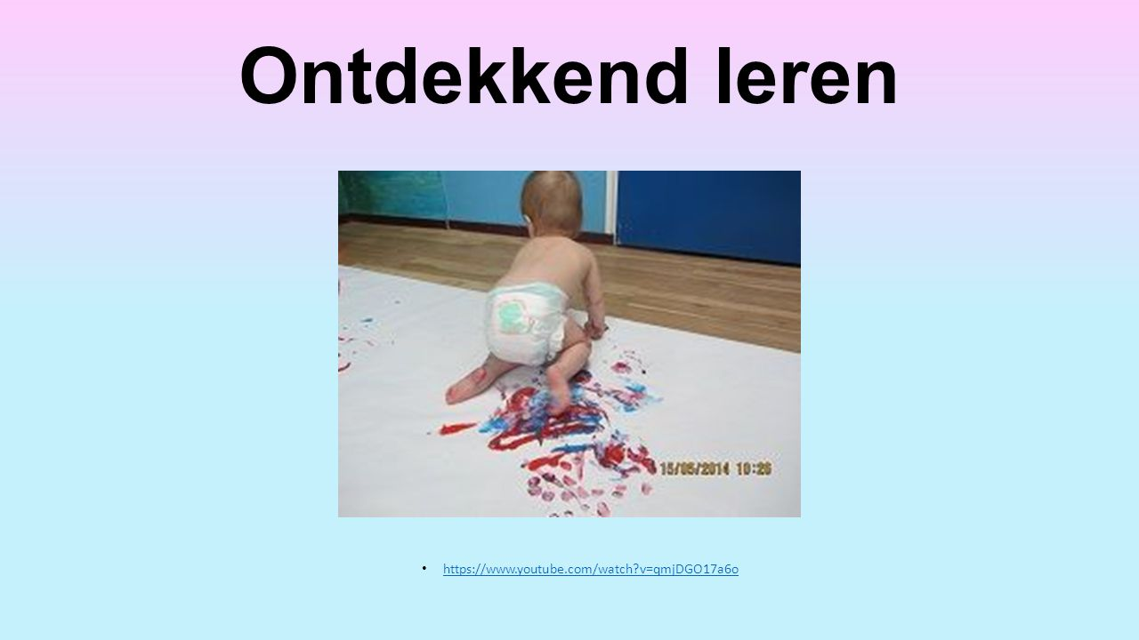 Ontdekkend leren https://www.youtube.com/watch v=qmjDGO17a6o