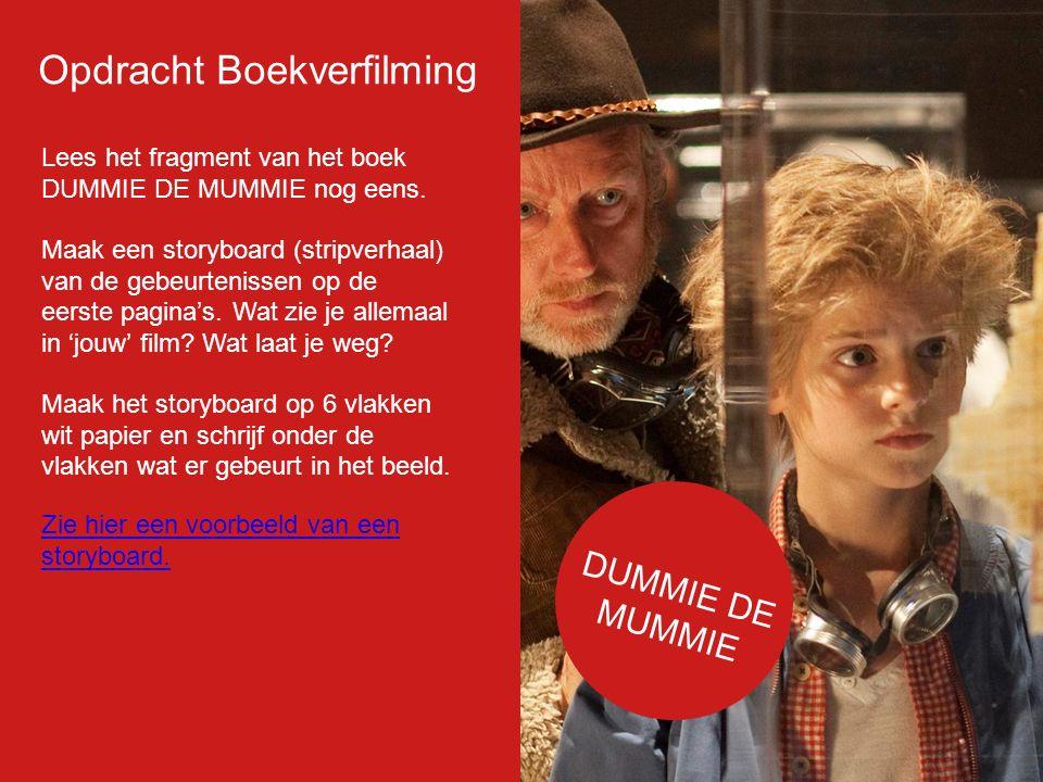 Filmposter Opdracht Boekverfilming DUMMIE DE MUMMIE Dummie de Mummie