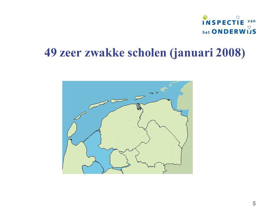 49 zeer zwakke scholen (januari 2008)