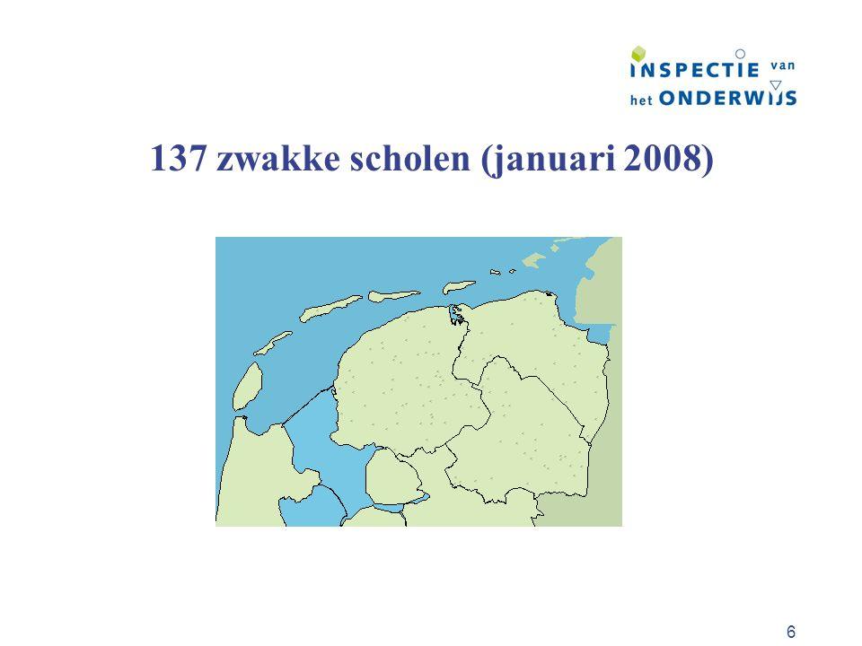 137 zwakke scholen (januari 2008)