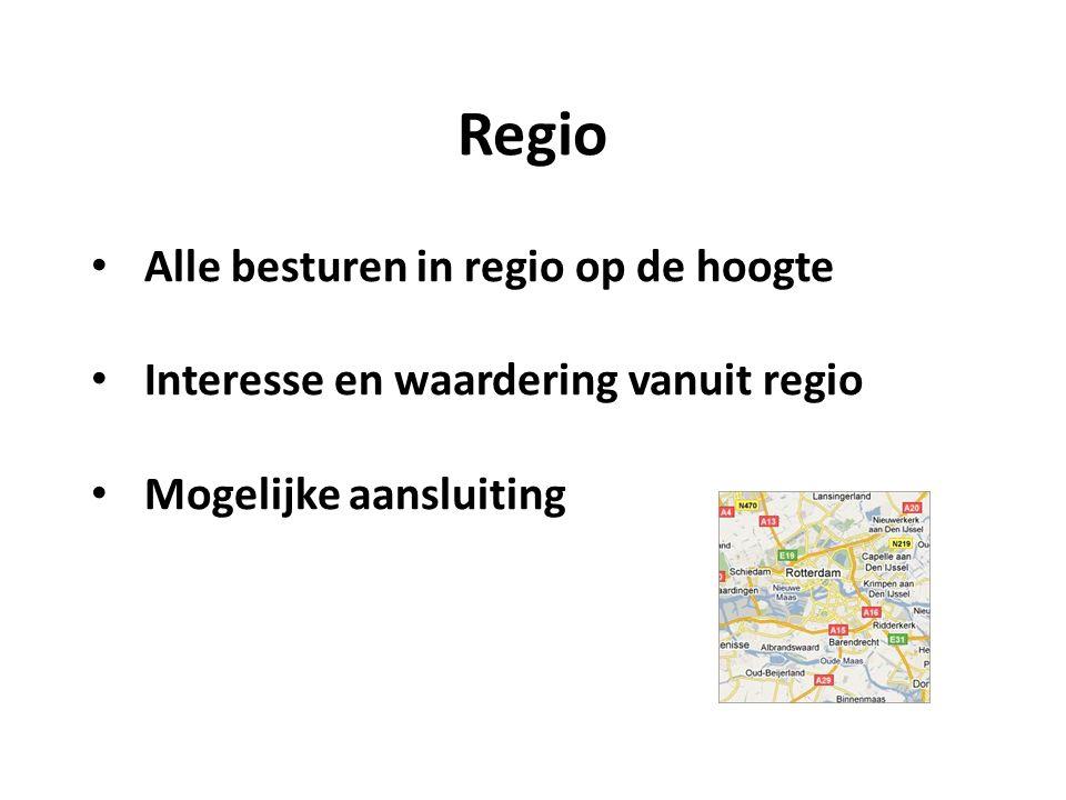 Regio Alle besturen in regio op de hoogte