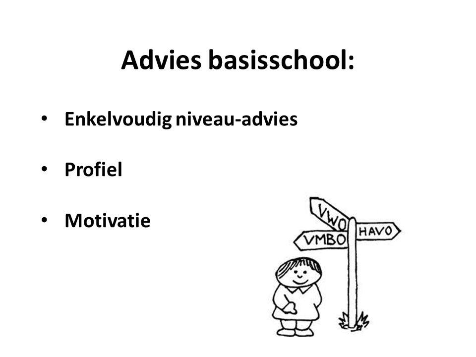 Enkelvoudig niveau-advies Profiel Motivatie