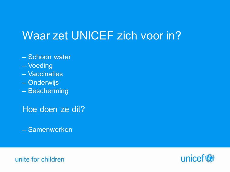 Waar zet UNICEF zich voor in