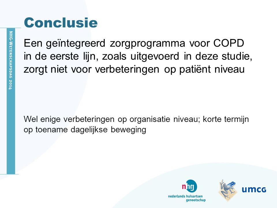 Conclusie Een geïntegreerd zorgprogramma voor COPD