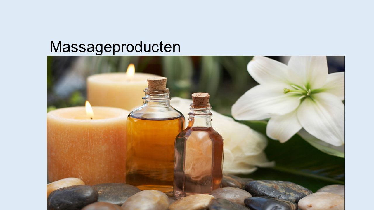 Massageproducten