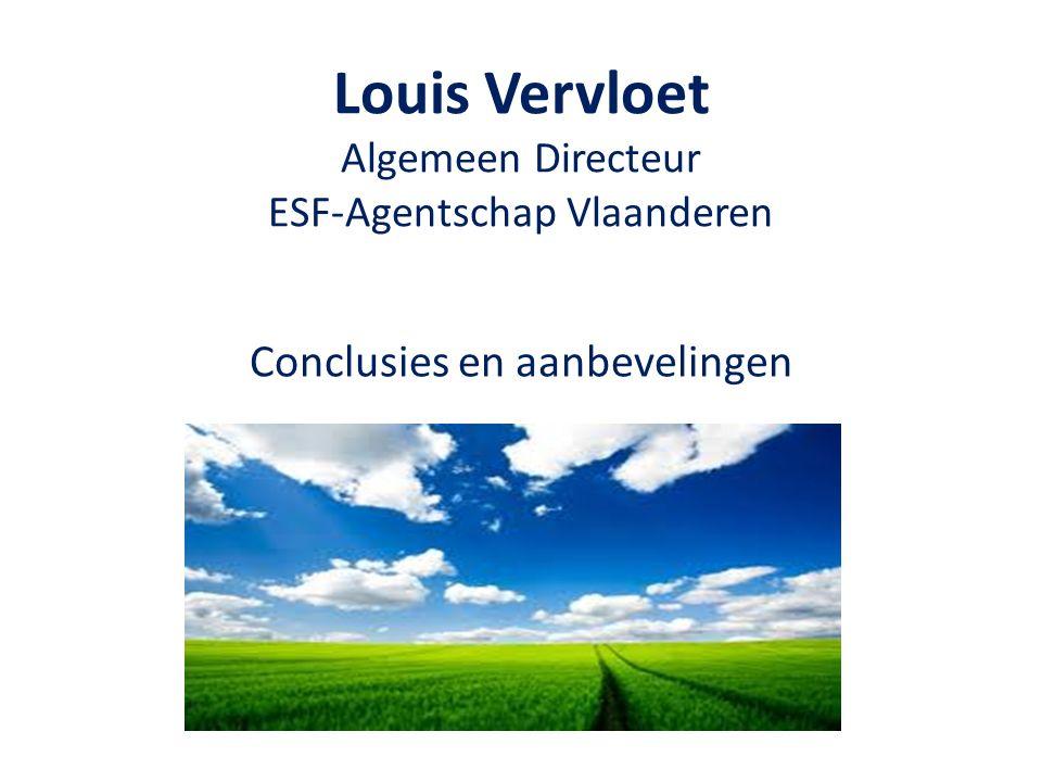Louis Vervloet Algemeen Directeur ESF-Agentschap Vlaanderen