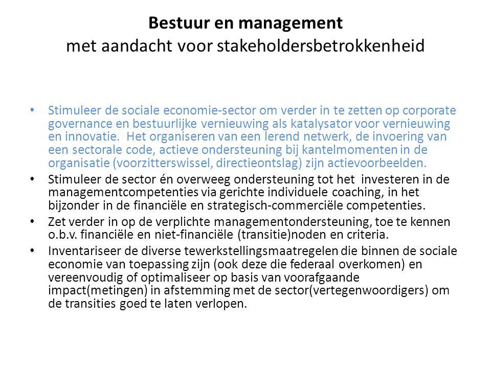 Bestuur en management met aandacht voor stakeholdersbetrokkenheid
