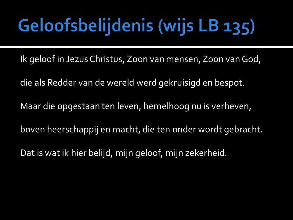 Geloofsbelijdenis (wijs LB 135)