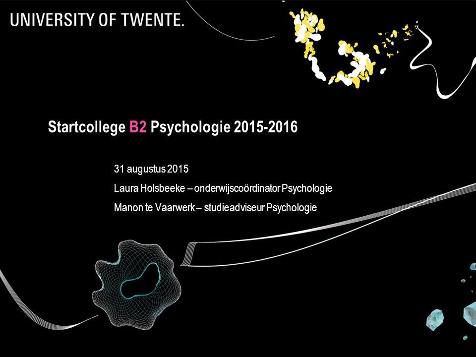 Startcollege B2 Psychologie 2015-2016