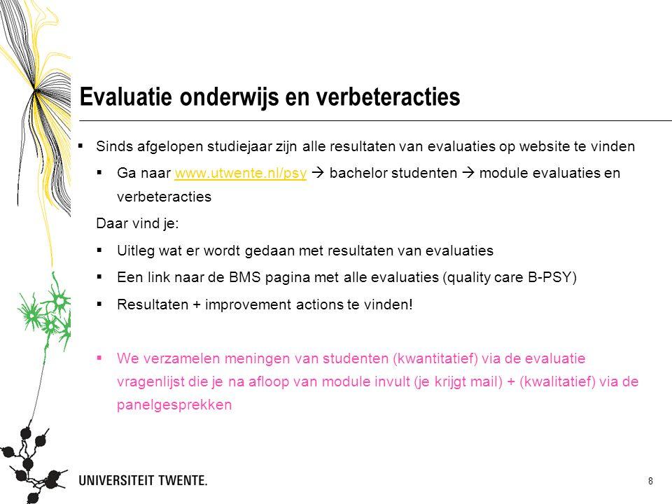 Evaluatie onderwijs en verbeteracties