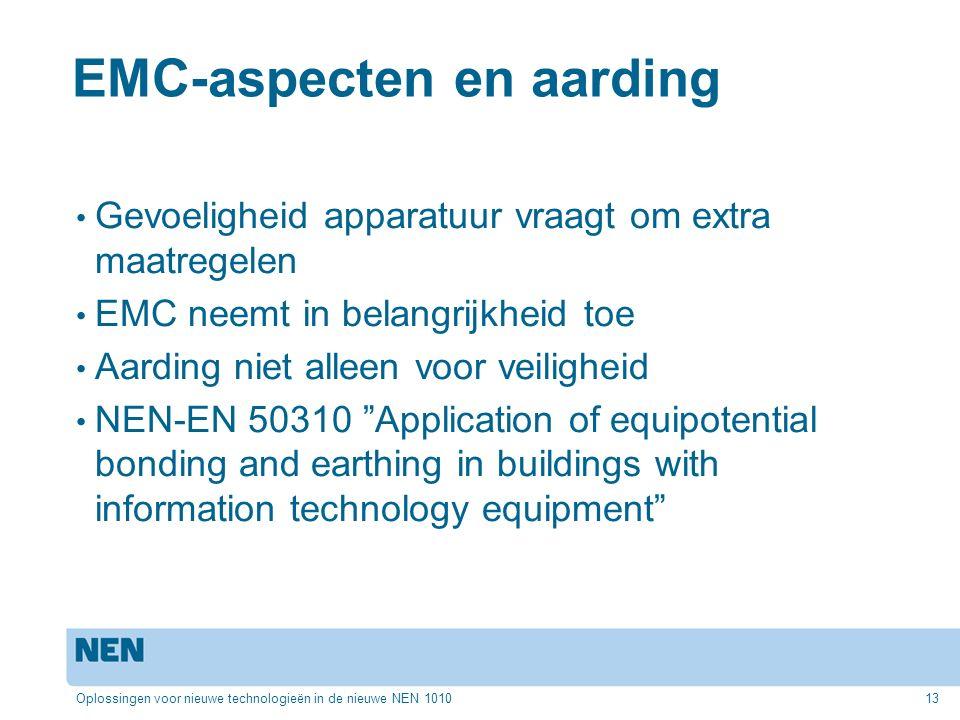 EMC-aspecten en aarding