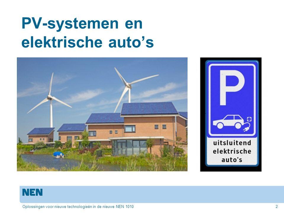 PV-systemen en elektrische auto's