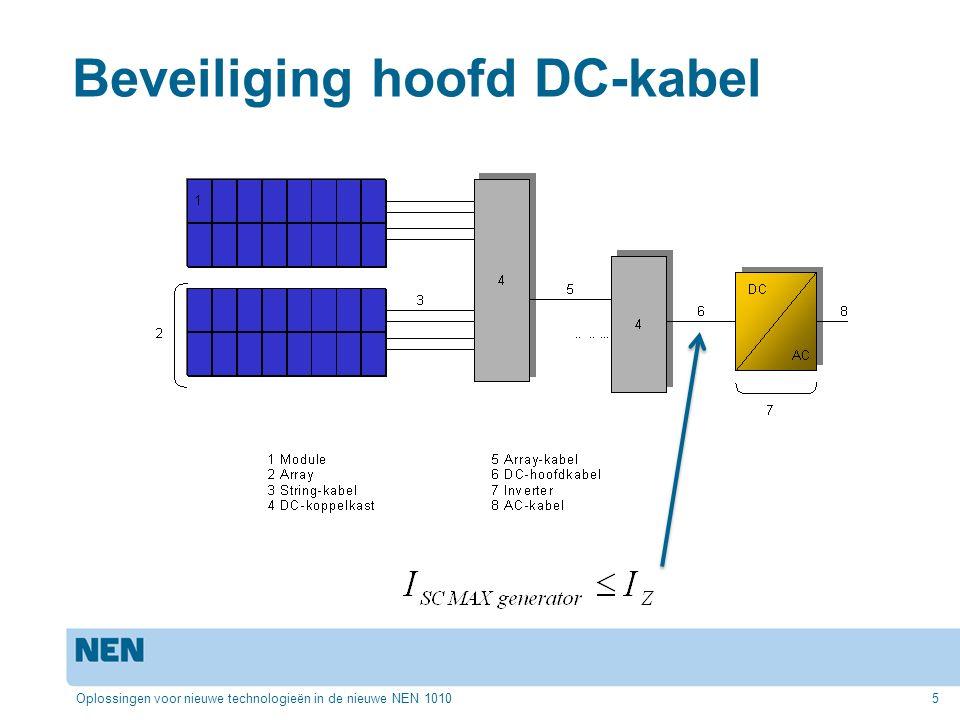 Beveiliging hoofd DC-kabel