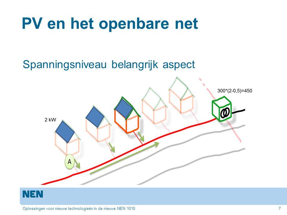 PV en het openbare net Spanningsniveau belangrijk aspect