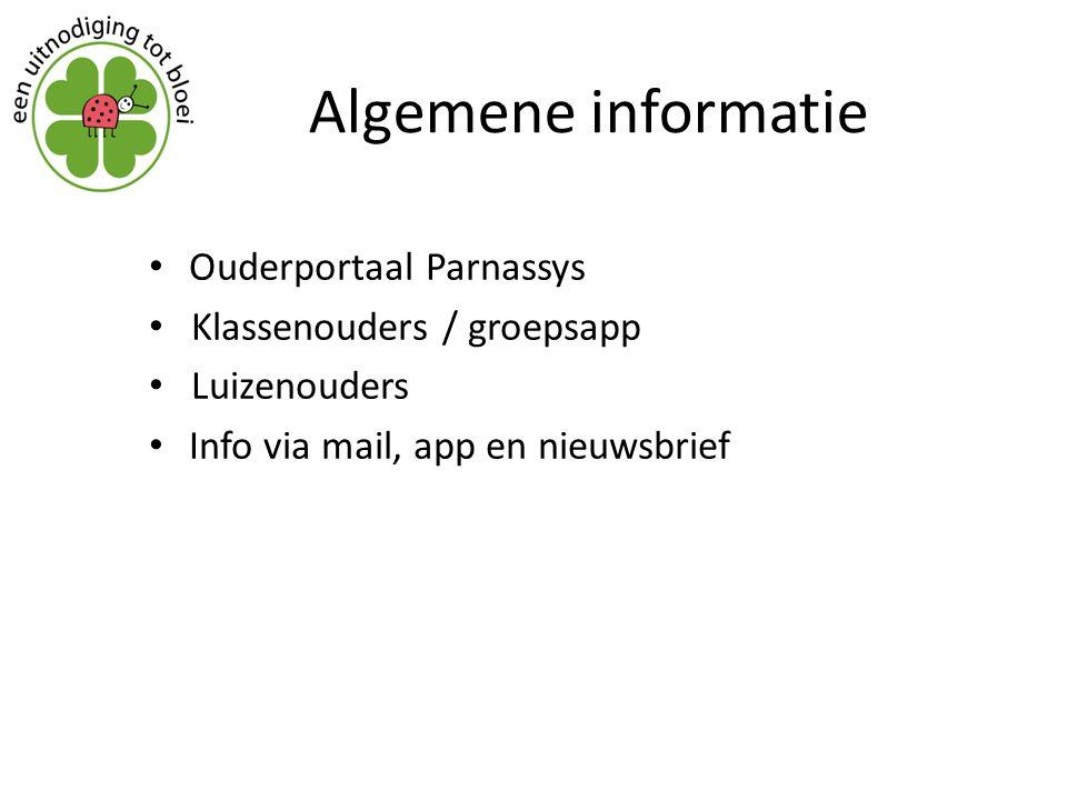 Algemene informatie Ouderportaal Parnassys Klassenouders / groepsapp