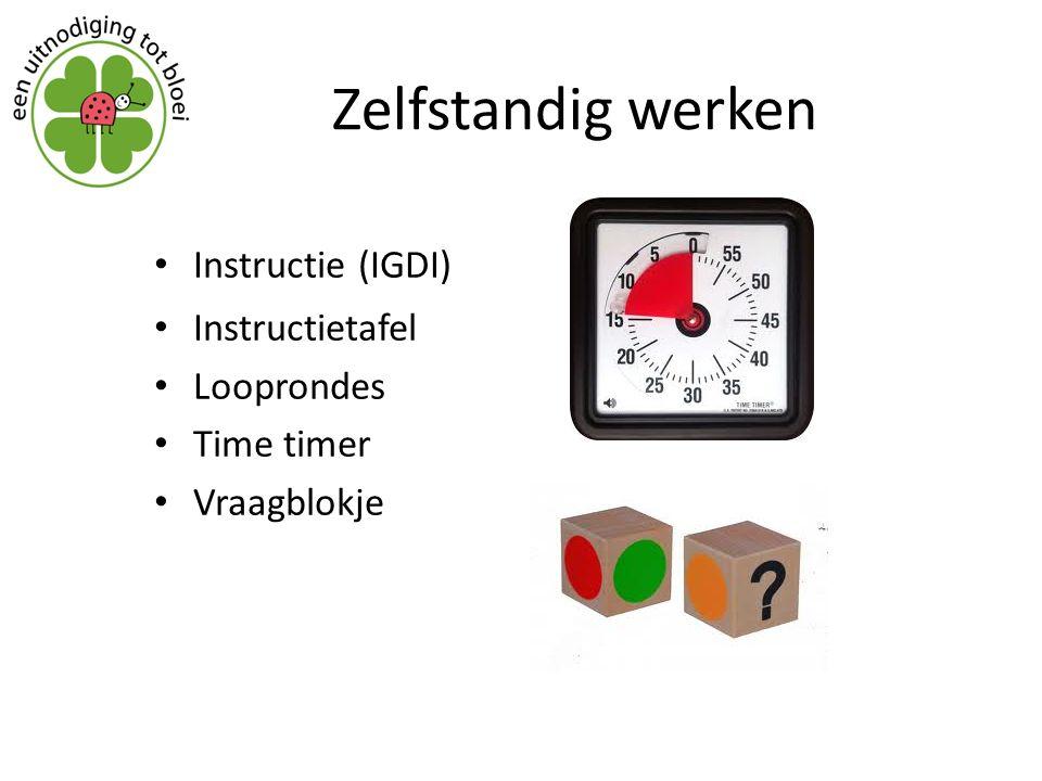 Zelfstandig werken Instructie (IGDI) Instructietafel Looprondes