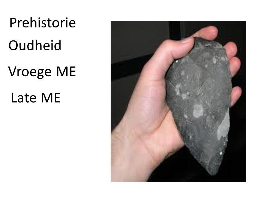 Prehistorie Oudheid Vroege ME Late ME