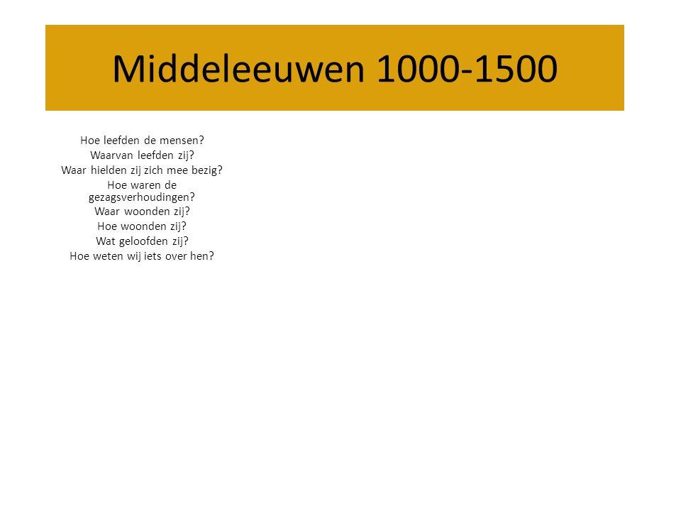 Middeleeuwen 1000-1500 Hoe leefden de mensen Waarvan leefden zij