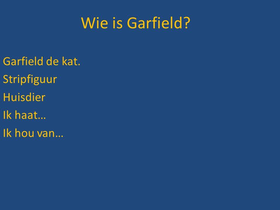 Garfield de kat. Stripfiguur Huisdier Ik haat… Ik hou van…
