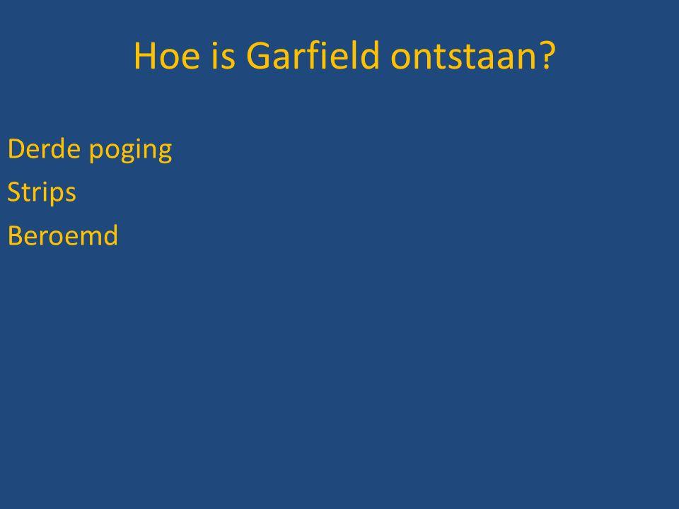 Hoe is Garfield ontstaan