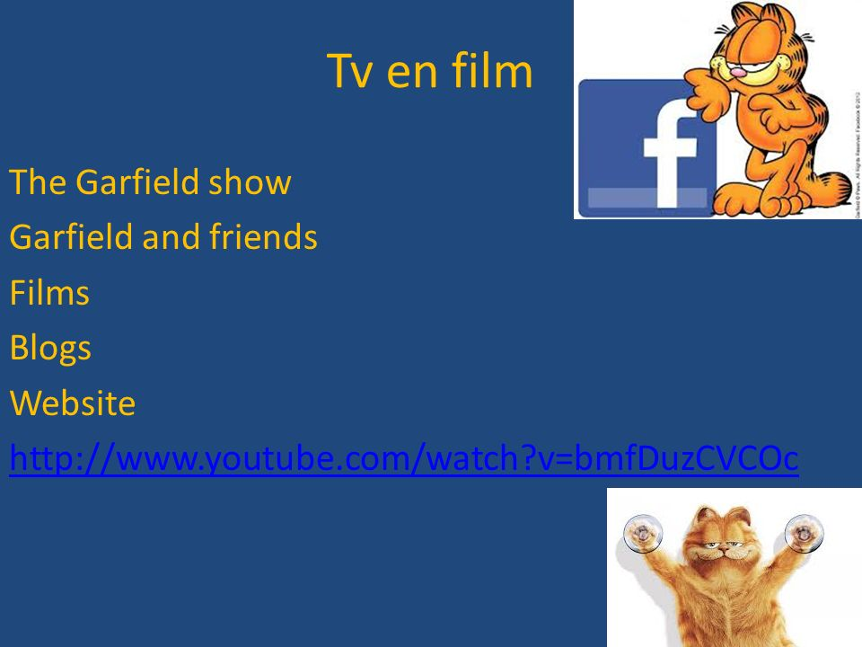Tv en film The Garfield show Garfield and friends Films Blogs Website