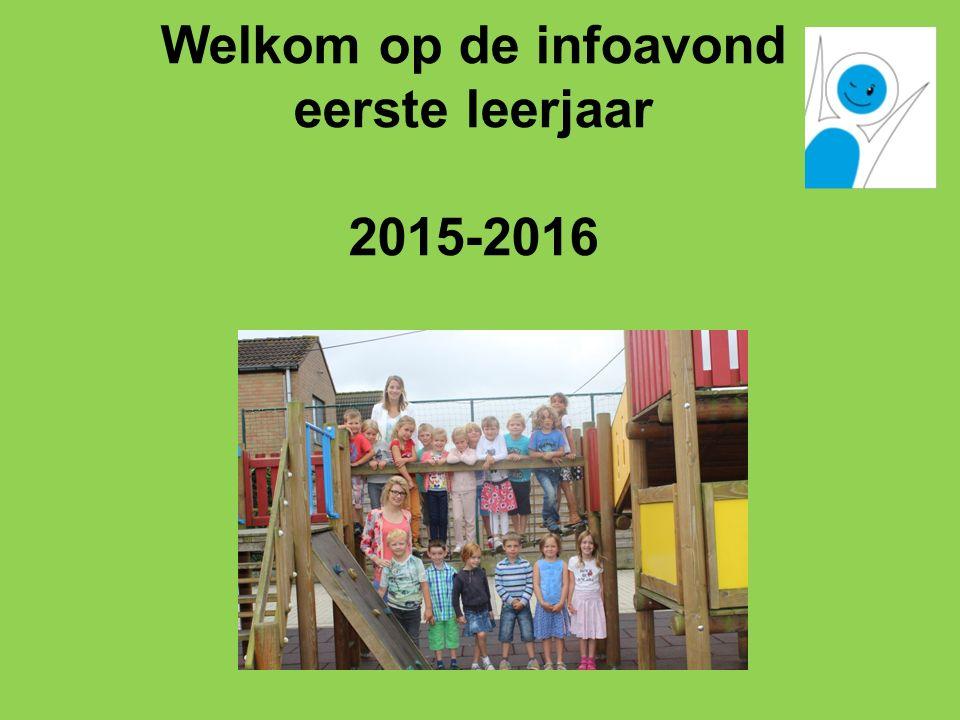 Welkom op de infoavond eerste leerjaar 2015-2016