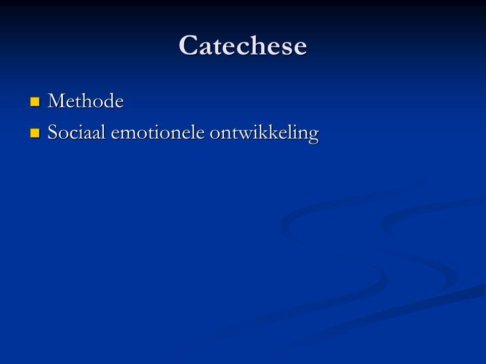 Catechese Methode Sociaal emotionele ontwikkeling