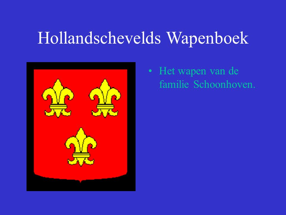 Hollandschevelds Wapenboek