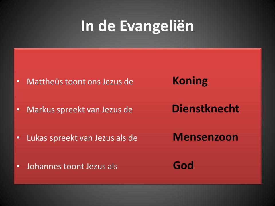In de Evangeliën Mattheüs toont ons Jezus de Koning
